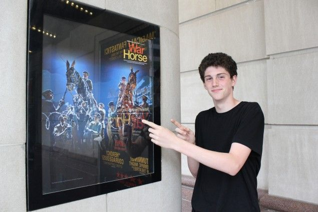 Introducing…Connecting With My Future! (Nate outside the Princess of Wales Theatre in Toronto)