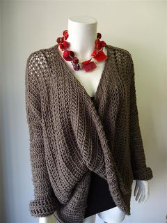 Crochet Sweater Pattern -- now, if only i could crochet.