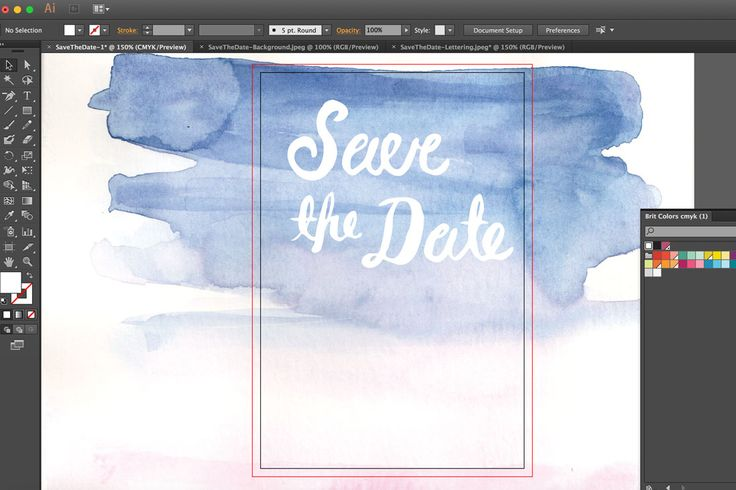 Here's how to use Adobe Illustrator to design watercolor save the dates for your wedding.