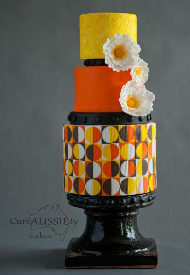 Retro Wedding cake - DIY wedding magazine - Cake by curiAUSSIEty custom cakes