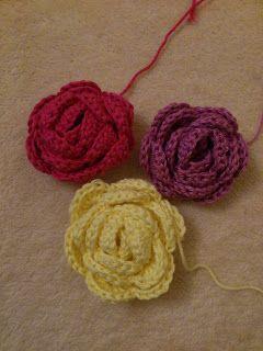motaničky: Háčkovaná ružička