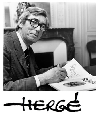 Georges Remi, (Herge) creator of Tintin, 22 May 1907 - 03 March 1983 #cartoons