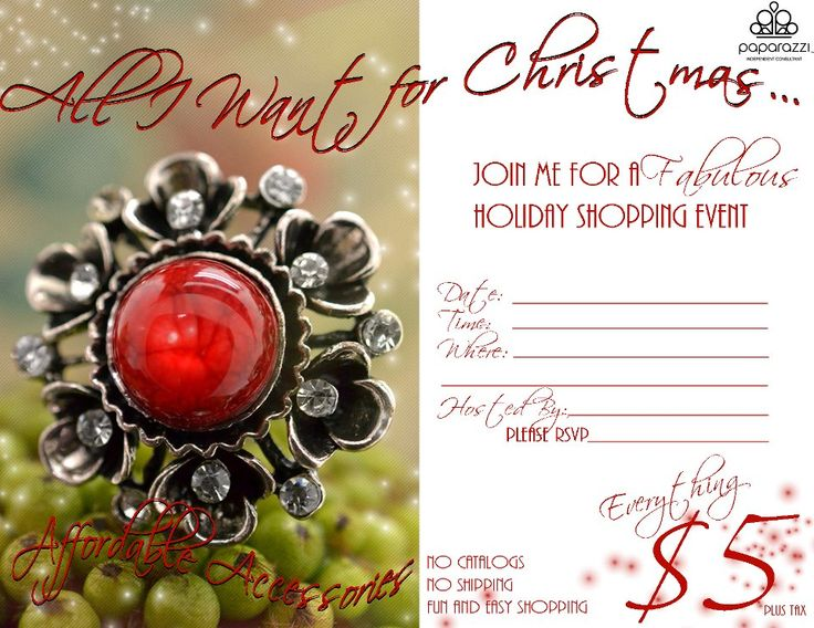 paparazzi christmas invitations