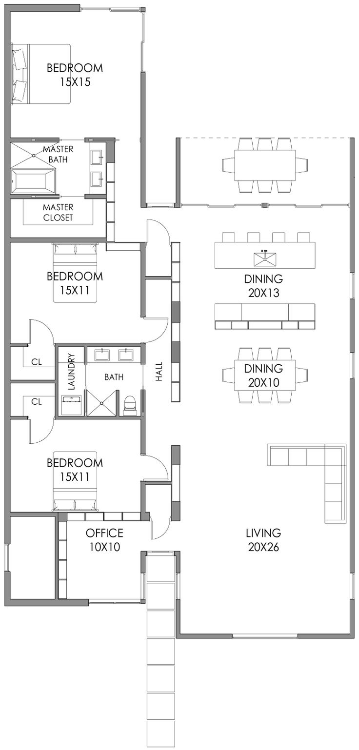 1000 ideas about modern floor plans on pinterest modern for Mid century floor plans