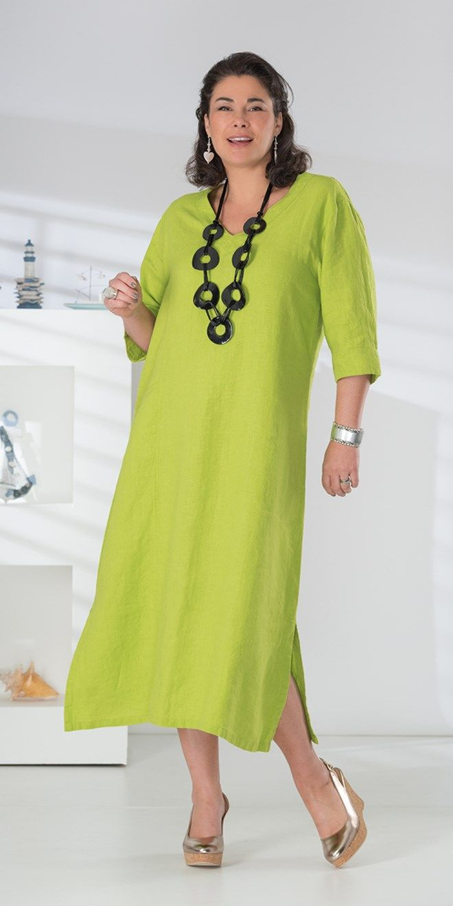 Kasbah lime linen pocket dress