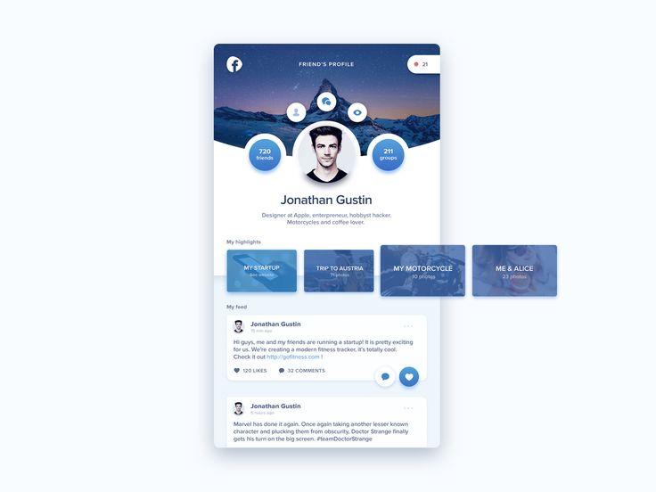 Social Media app redesign by Diana Malewicz for HYPE4  via Muzli design inspiration