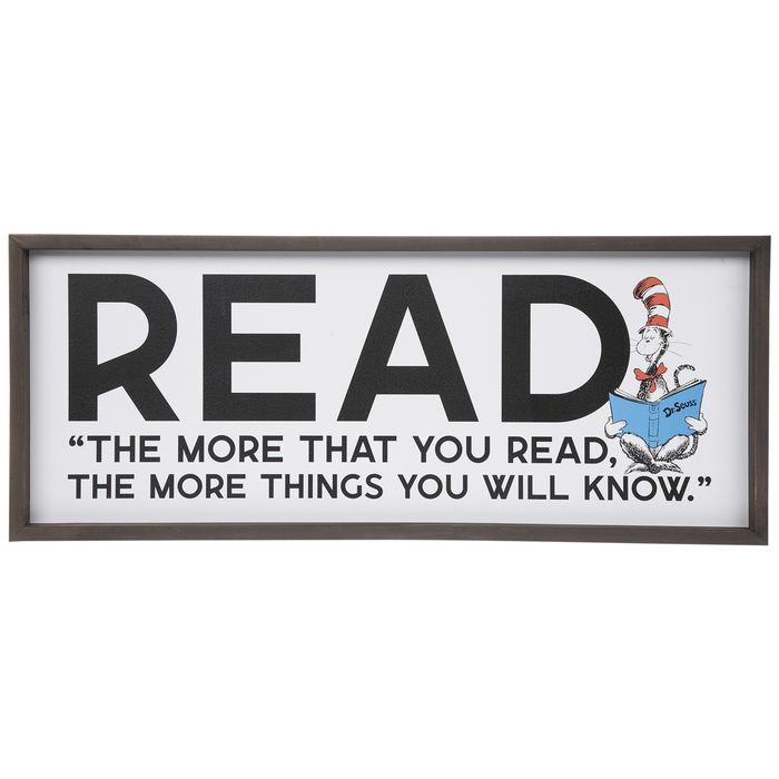 Get Dr Seuss Read Wood Wall Decor Online Or Find Other Quote Wall Decor Products From Hobbylobby Com Wood Wall Decor Wall Decor Quotes Read Sign