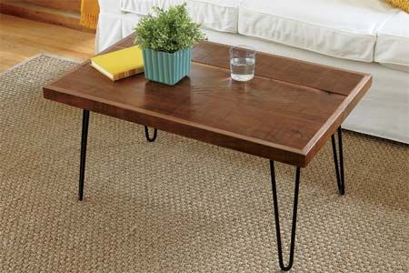 how to build a hairpin leg coffee table industrial metal. Black Bedroom Furniture Sets. Home Design Ideas
