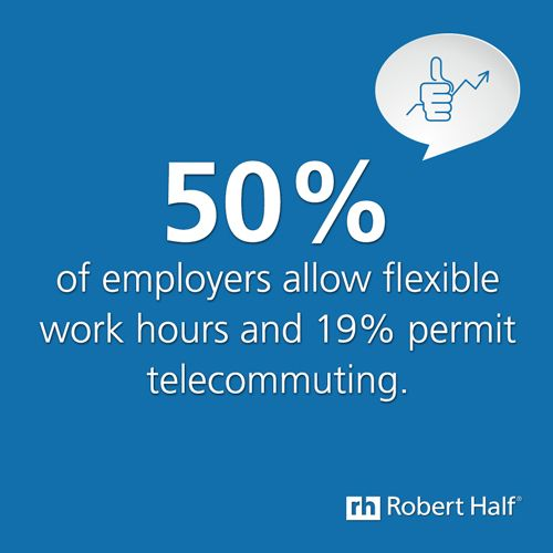#flexible hours #telecommunting. For more info on what companies are offering, visit http://www.roberthalf.com.au/salary-guides