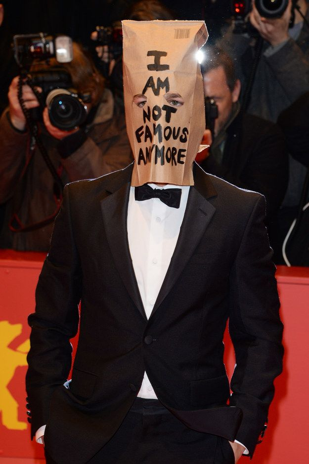 Shia LaBeouf== You will need: Suit, brown paper bag.   17 Lazy Halloween Costumes You Can Use Your Normal Clothes For