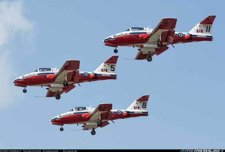 SNOWBIRDS - Canadair CT-114 Tutor (CL-41A) - Royal Canadian Air Force - Toronto - Lester B. Pearson International (Malton) (YYZ / CYYZ) Ontario, Canada - September 6, 2015by Gustavo Corujo
