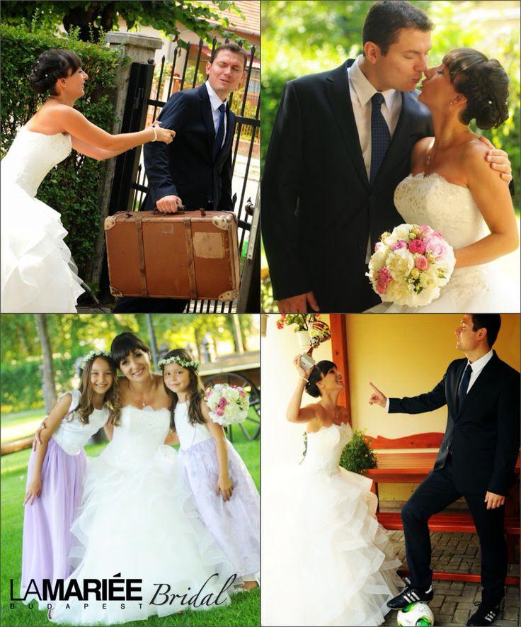 Zsuzsanna bride by La Mariée Budapest bridal #Leante dress by Pronovias http://lamariee.hu/eskuvoi-ruha/pronovias-2015/leante