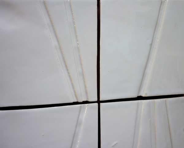 Handmade ceramic tiles with texture - handmade clay tiles.
