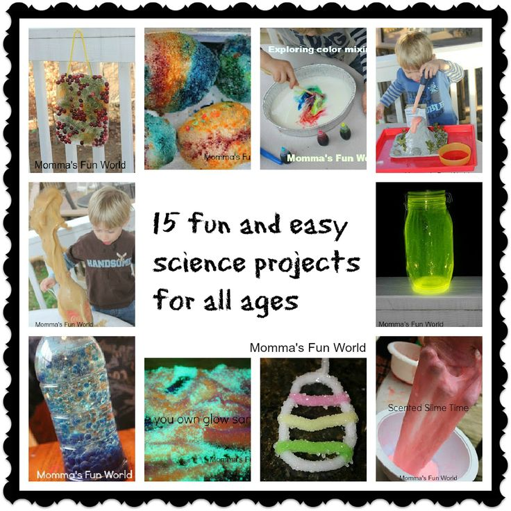 15 different fun kid science projects!