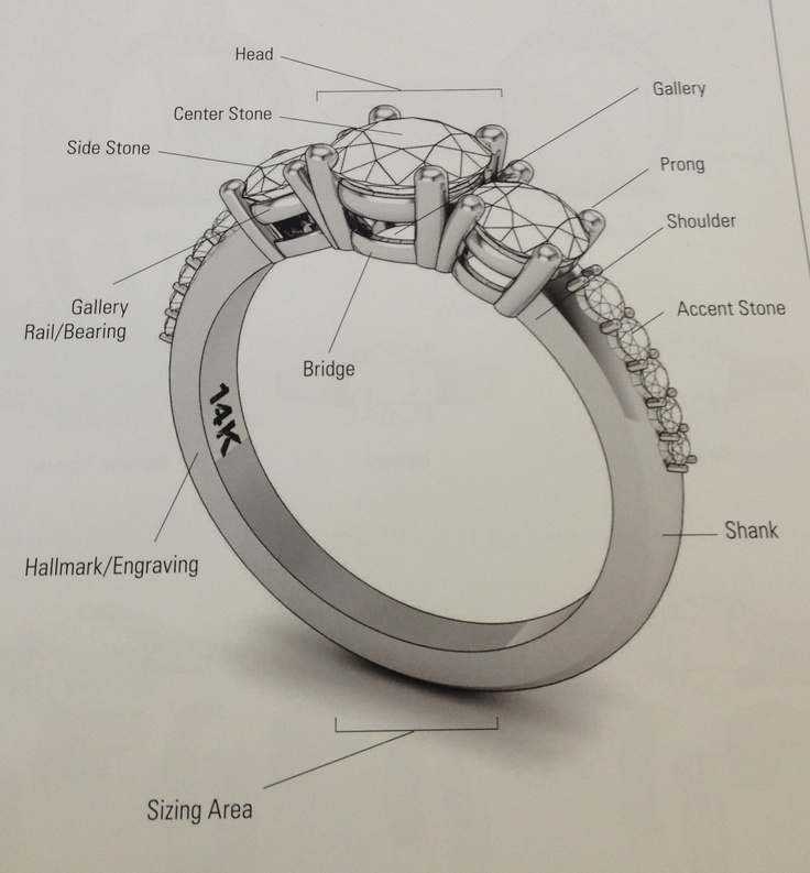 21 best engagement rings 101 images on pinterest engagement rings the anatomy of a ring ccuart Choice Image