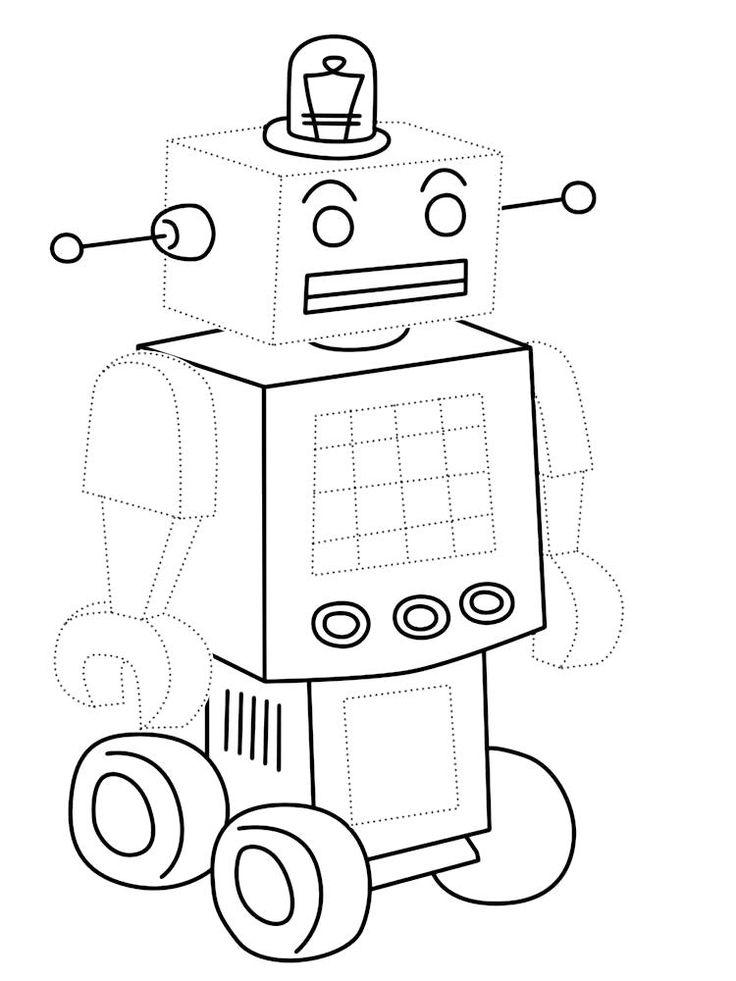 Картинки роботы для детей раскраски