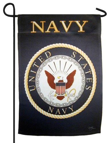 Navy Emblem Sublimated Garden Flag