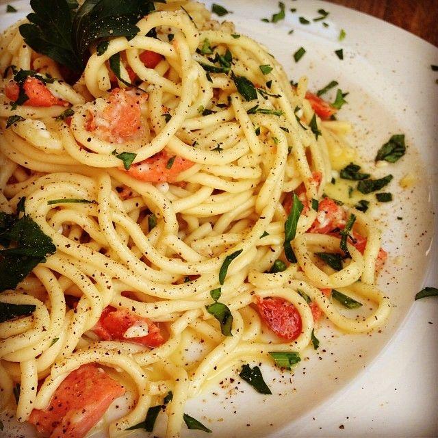 ... Salmon Spaghetti on Pinterest | Salmon and rice, Avocado and Rice