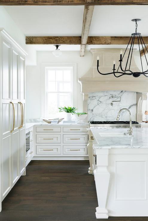 Die besten 25+ Weiße küche mit grauen arbeitsplatten Ideen auf