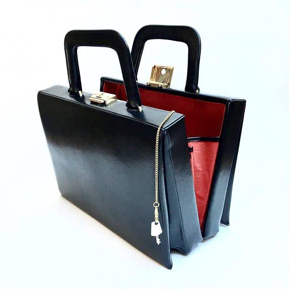 Vanity Case. Black Vanity. Vintage Vanity Box. Trousse de toillette. Vintage Handbag. French Makeup Vanity. Beauty Case. Jewelry Storage