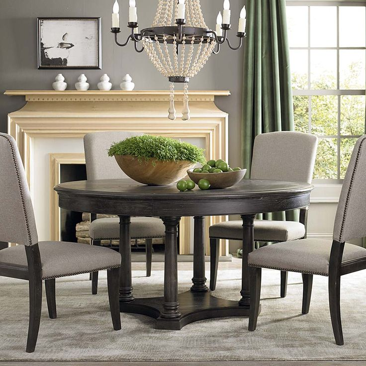 Round Kitchen Table And Chairs With Fireplace Chandelier