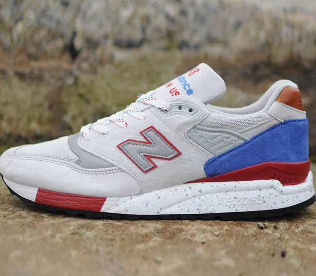 New Balance 998 - Cement / Red - Royal