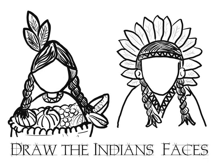 explore these native american indian coloring pages to add colors in blank sheets working as best