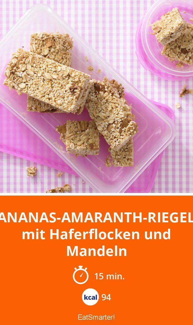 Ananas-Amaranth-Riegel | Superfruchtiger Zwischensnack - Fertig in nur 15 Minuten