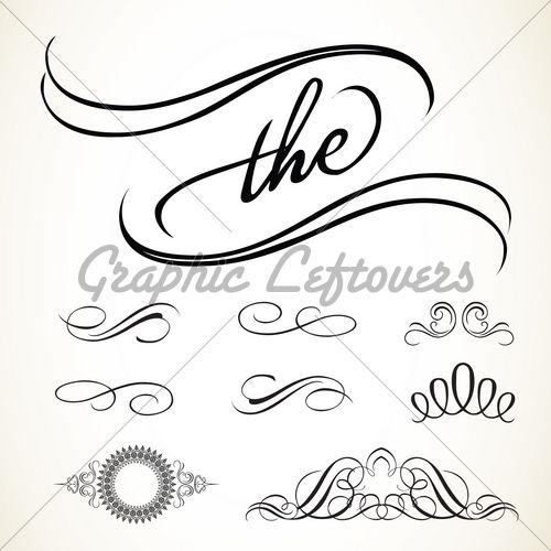 Best images about flourishes text dividers vectors