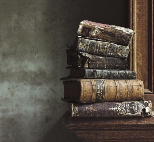 stacks of old books