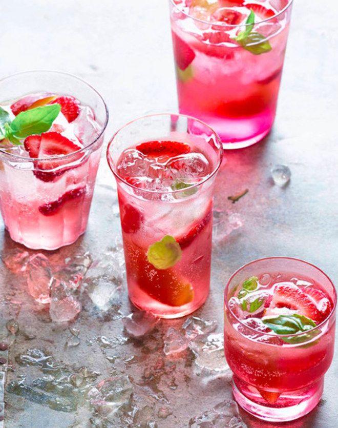 Receitas de drinques cor-de-rosa