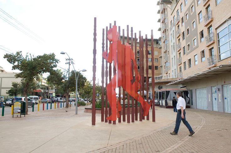 "Marco Cianfanelli's sculpture ""Into the Fields"", Hatfield, Pretoria. http://marcocianfanelli.com/"