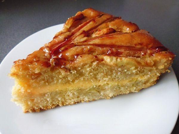 Пирог с ревенем рецепт с яблоками и заварным кремом