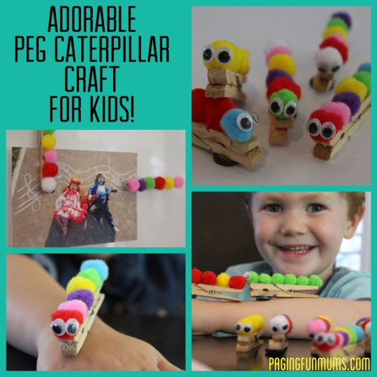 Easy and adorable Caterpillar craft :).