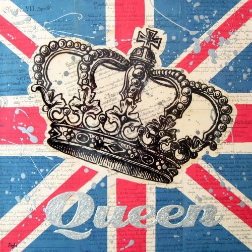 Queen.  Union Jack.  English 110%