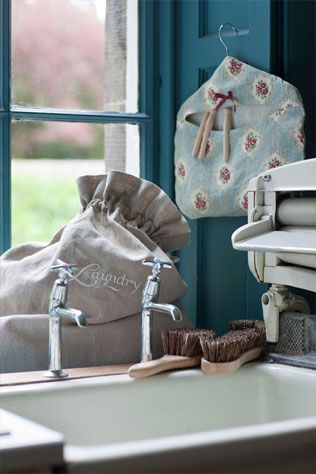 Wash Day just got better - here's no reason for everything to just be practical when they can be gorgeous AND practical! Beautiful British linens.