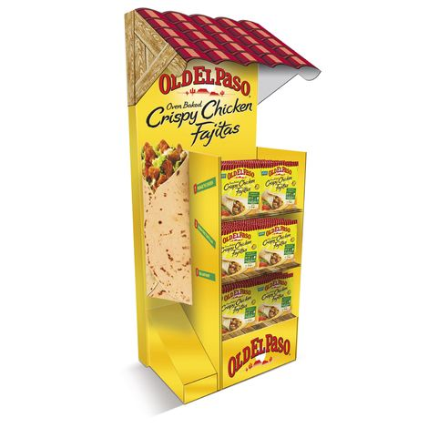 Old El Paso FSDU design and build. Free Standing Display Unit with 3D Fajita wrap attachment. *** Design, Print and Build by The Printed Image Ireland *** View Portfolio: http://www.tpi.ie/portfolio/