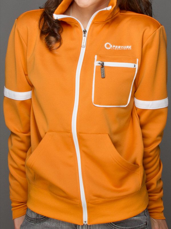 J!NX : Portal 2 Aperture Test Subject Premium Track Jacket - Clothing Inspired by Video Games & Geek Culture   $54.99