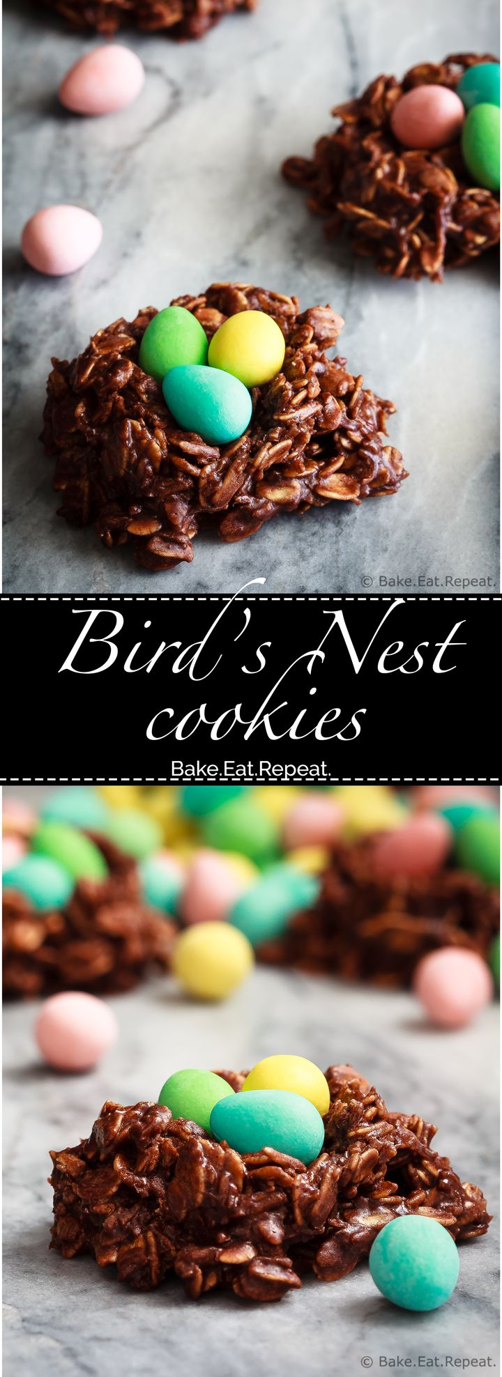 These no bake bird's nest cookies - also known as haystack cookies - are quick and easy to make and the kids will love them!