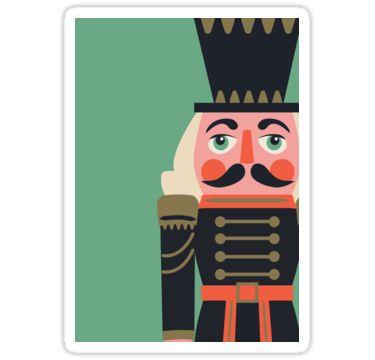 Nussknacker   Weihnachten   Sticker   Kunst   Design   Schreibwaren   Geschenkidee   Deko