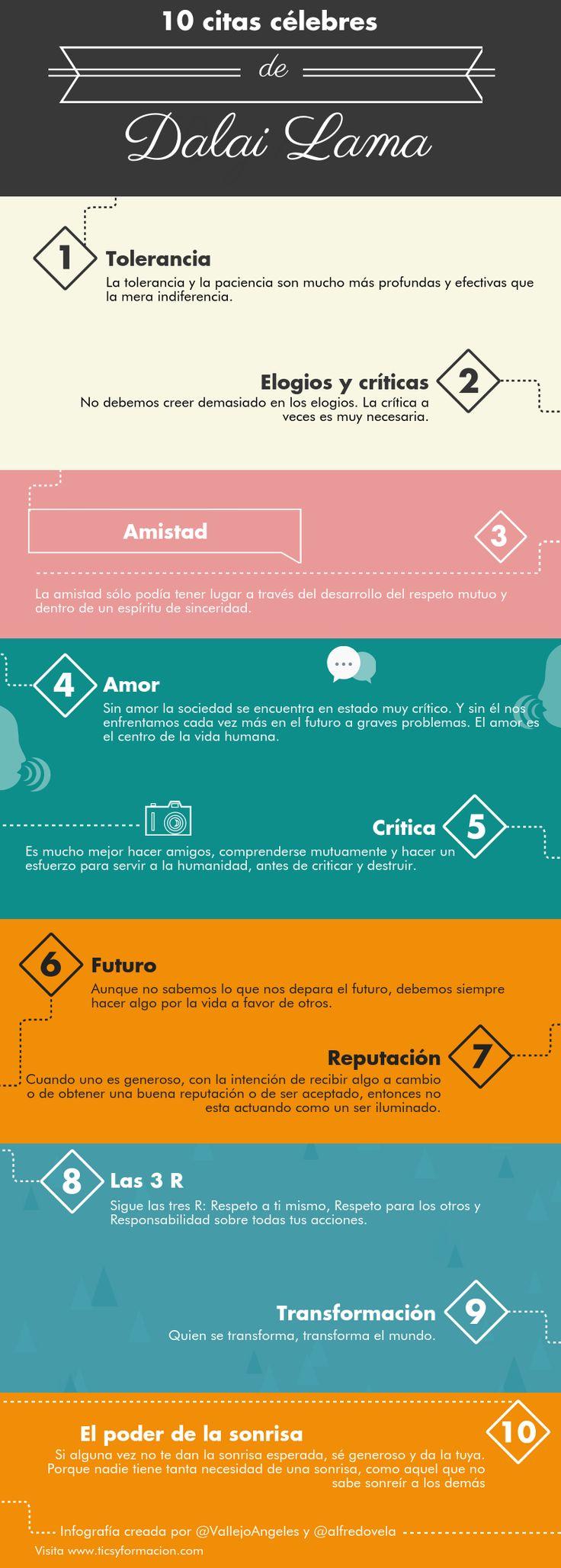 10 citas célebres del Dalai Lama #infografia #infographic #citas #quotes