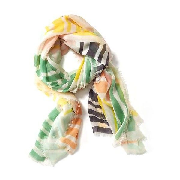 Old Navy Multi Stripe Gauze Scarf For Women ($11) ❤ liked on Polyvore featuring accessories, scarves, pink, gauze scarves, colorful shawl, old navy scarves, old navy and striped scarves