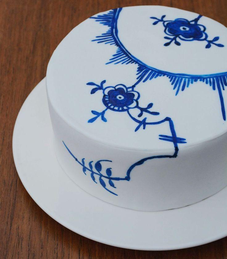 How-to guide: Musselmalet kage med inspiration fra Royal Copenhagen