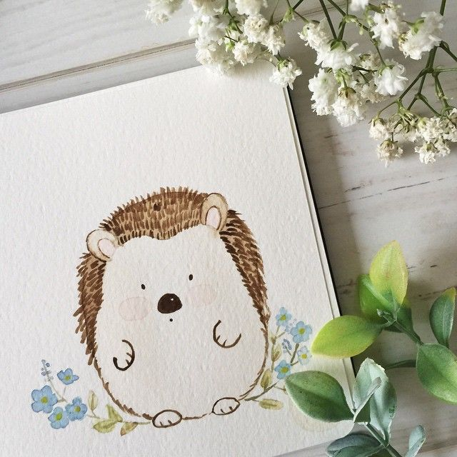Don't you want to cuddle the cute and fat little hedgehog? He loves the forget…