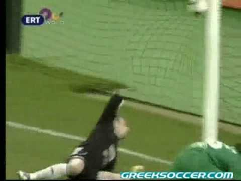Matchday 25: Panathinaikos v Larissa 2-0 (53' Gilberto Silva)