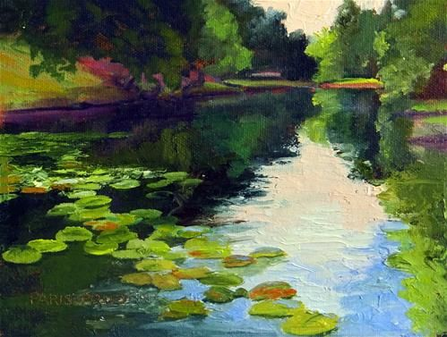 "Daily+Paintworks+-+""Lilypads""+-+Original+Fine+Art+for+Sale+-+©+Nancy+Paris+Pruden"