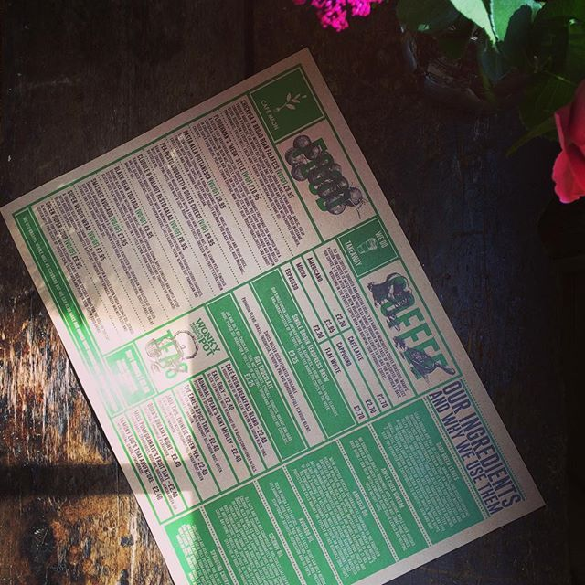 Super pleased with how these menus have turned out..... @cafemeon #wearebabygiant #menudesign #type