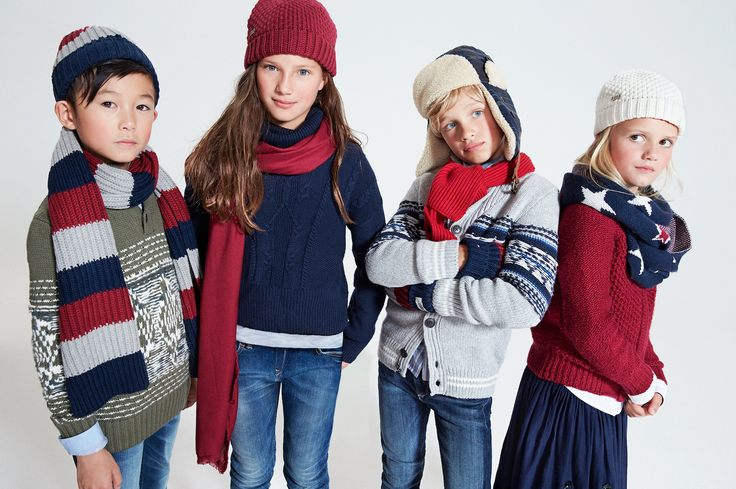 Did somebody say snowballs..? Tommy Hilfiger's winter looks for kids are ready for anything.