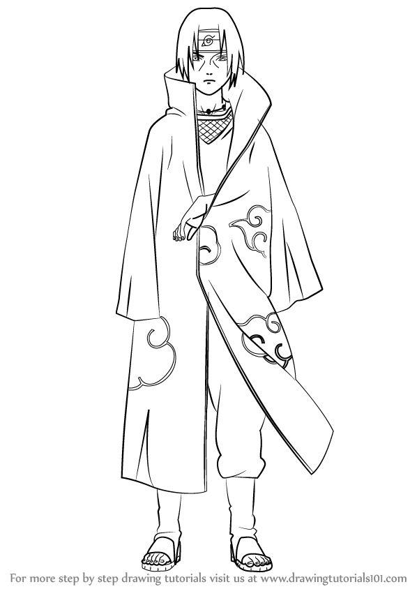 How To Draw Itachi Uchiha From Naruto Drawingtutorials101 Com Naruto Drawings Easy Naruto Sketch Naruto Drawings