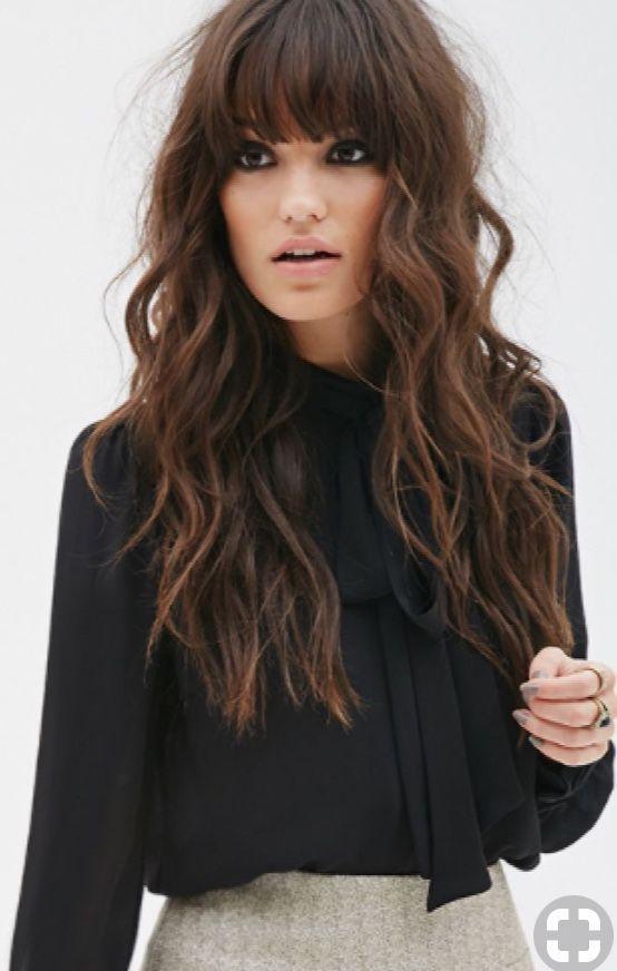 Frisuren Mit Pony 2019 Hairstyles Pinterest Hair Hair Styles